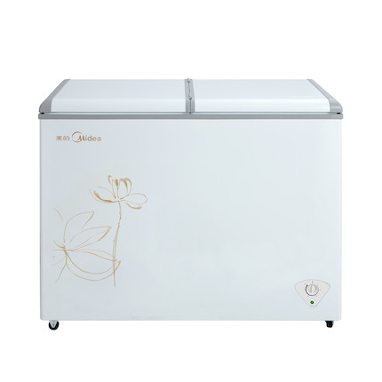 美的 271L双温大容量冰柜冷冻冷藏 商用卧式雪糕冷柜BCD-271VMQ