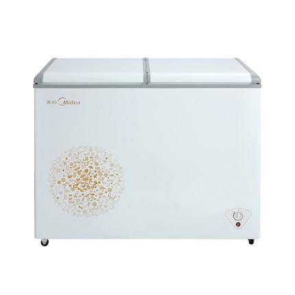 【冷藏冷冻分区】美的冷柜(双温柜) 220升 大容量 蝶形门双温区 BCD-220VM(E)妙趣金