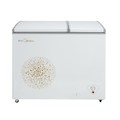 Midea/美的冷柜 200升 卧式双温 低噪节能 断电保护 BCD-200DKM(E)