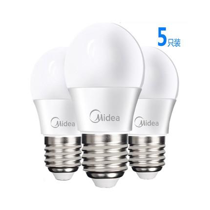 【5只装】LED灯泡 3000K暖光3W BPZ180 830.E27
