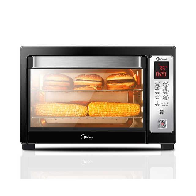 电烤箱 智能生态烘焙 智能双感温探头 T7-L384D 银色二代