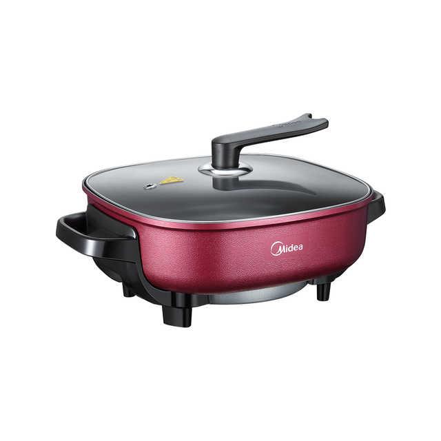 韩式电火锅 电火锅 电炒锅 电煮锅 电热锅 家用6升大容量一体多用途锅可煎烤LHN30D