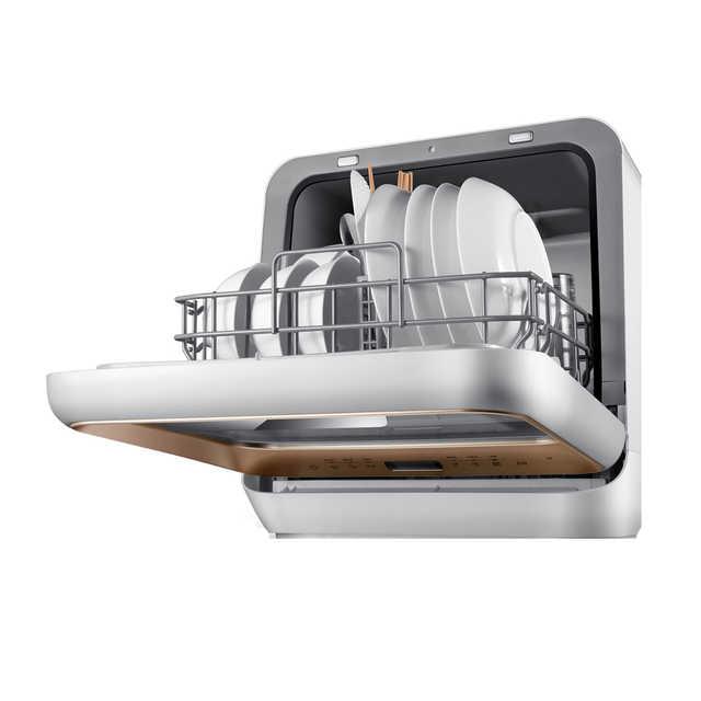 【免安装】洗碗机 29分钟超快洗 健康水果洗 消毒烘干 4套餐具 M1-香槟金
