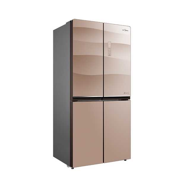 美的冰箱432升十字对开纤薄智能变频风冷无霜多门电冰箱BCD-432WGPZM
