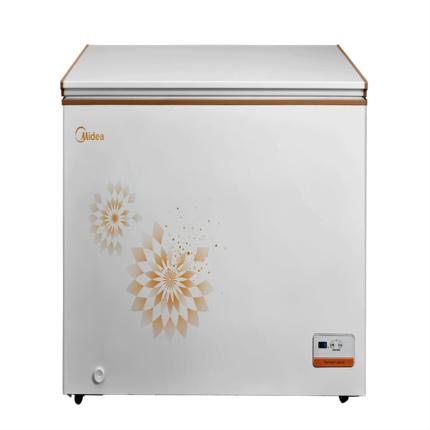 【新品推荐】 智能温控 速冷一机多用  新国标一级能效 美的 冷柜 BD/BC-303KEM 时尚金