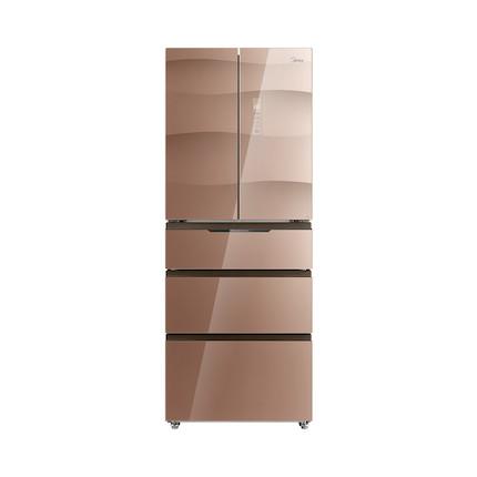 【新品推荐】铂金净味 多空间保鲜 全景变温 双层冷冻 美的冰箱BCD-360WGPM玫瑰金