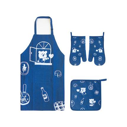 会员定制丨阿biu生活周边-围裙厨品四件套