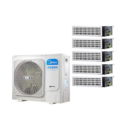 【0元安装】美的 一拖五变频一级能效 多联风管机 6匹 家用中央空调  MDS-H140W(E1)