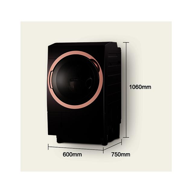 【热泵柔烘】东芝11KG洗烘一体机 全直流变频 微气泡纳米级清洁 电磁减震DGH-117X6DZ