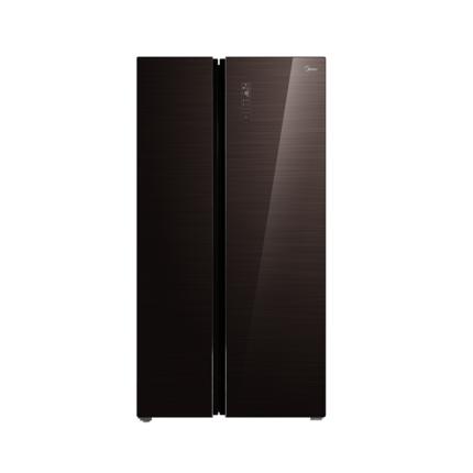 【铂金净味】美的598L对开门冰箱 智能双变频无霜 雷达感温 BCD-598WKGPZM(E)