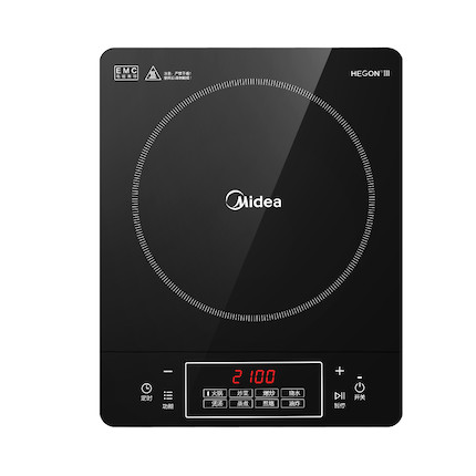 电磁炉 8大功能 2100W大火力 匀热爆炒 配汤炒锅  C21-Simple101