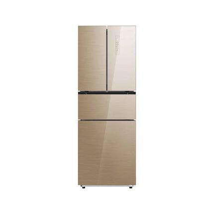 【新品推荐】时尚纤薄 风冷无霜 中门宽幅变温 美的冰箱BCD-276WTGM凯撒金