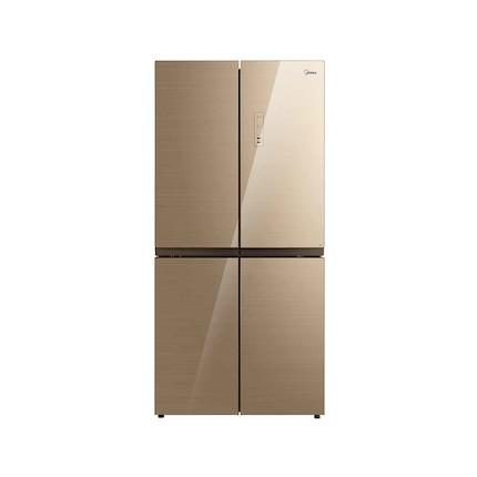 【新品推荐】创新风冷 双系统 铂金净味 循环风 美的冰箱BCD-456WGM凯撒金