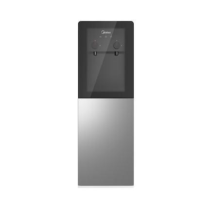 饮水机 一体化钣金机架 旋钮式取水 双层储物柜 钢化玻璃面板 YD1002S-X (温热款)
