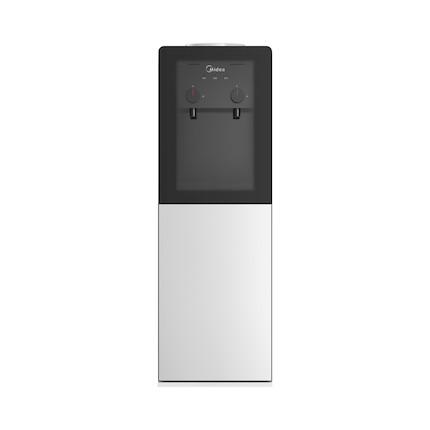 饮水机 一体化钣金机架 旋钮式取水 双层储物柜 钢化玻璃面板 YR1002S-X(冰热款)