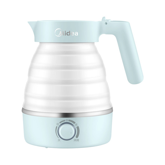 【控温款】折叠水壶 旅行便携 奶嘴级材质 旋钮控温 MK-SH06S201