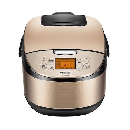 东芝 电饭煲(锅) 5L大容量1-10人家用备长炭不粘涂层智能预约煮饭煲RC-18MSMC