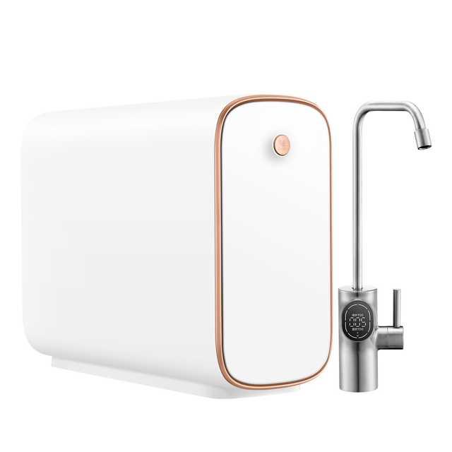 美的 布谷(BUGU)厨下净水器Pro版 5合1复合滤芯 400加仑RO 全面屏智能水龙头BG-W1