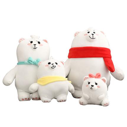 熊小美周边产品 熊一家玩偶