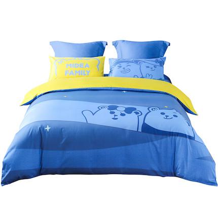 熊小美周边产品 床上四件套(罗莱蓝色)1.8