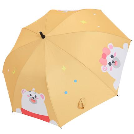 熊小美周边产品 熊一家弯柄雨伞(黄色)