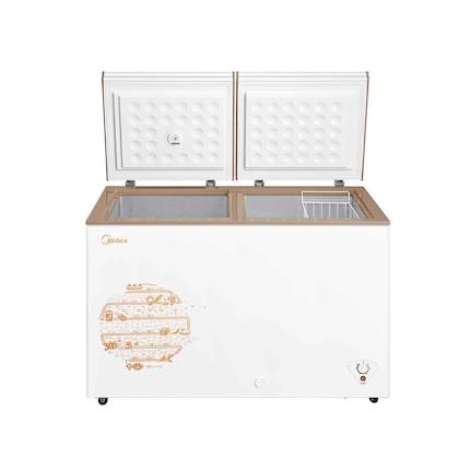 【新品推荐】一柜双温 双重保鲜 留档控温 速冷净味 美的冷柜BCD-269DKMB金色