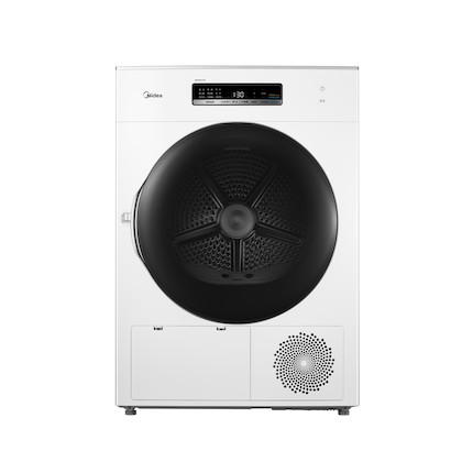 【热泵干衣】美的10KG热泵干衣机 紫外线UV灯多重除菌 智能家电 立体旋转烘干MH100-H1W