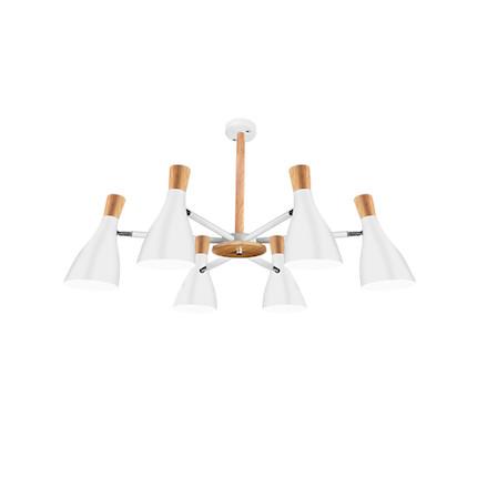 【白色6头】吊灯 双色可选 高档烤漆工艺  MXY6×15-Z/E27-Y23