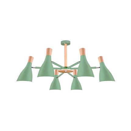 【绿色6头】吊灯 双色可选 高档烤漆工艺  MXY6×15-Z/E27-Y22