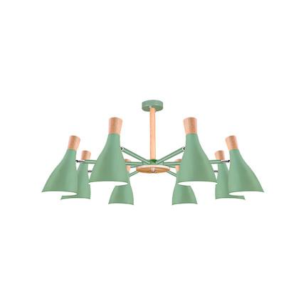 【绿色8头】吊灯 双色可选 高档烤漆工艺 MXY8×15-Z/E27-Y22