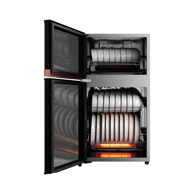 【颜值百搭】智能家电 消毒柜 77L 二星125°红外消毒 中温烘干MXV-ZLP80XC65-R