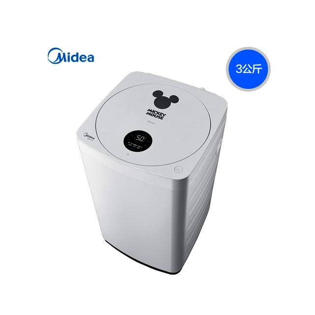 【宝宝专享】美的3KG波轮洗衣机 宝宝专享 迪士尼定制 一键桶自洁 全触控显示MB30V05