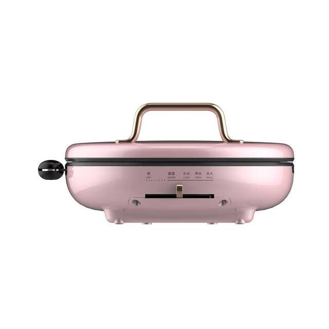 【冰莹粉】煎烤机 精致复古 可拆洗烤盘 易用把手 双面悬浮加热 速脆大火力 JK30P202