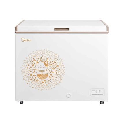 【新品推荐】精致外观 顶开单门 一柜双温 电子控温 美的冷柜BCD-223KEM金色