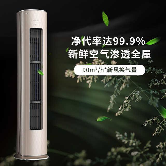 美的大3匹冷暖智能家电 无风感 柜机空调KFR-72LW/BP3DN8Y-YK100(1)