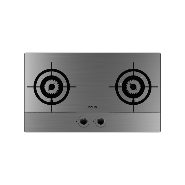 华凌燃气灶 4.5kW旋风匀火 225°宽频调节 一级能效 不锈钢面板 JZY-HQ6