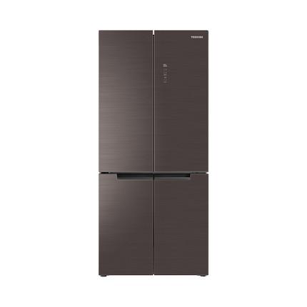 【双冷却系统】东芝多门冰箱519L十字对开门 净味除菌 幻影玻璃面板GR-RF545WE-PG1A8