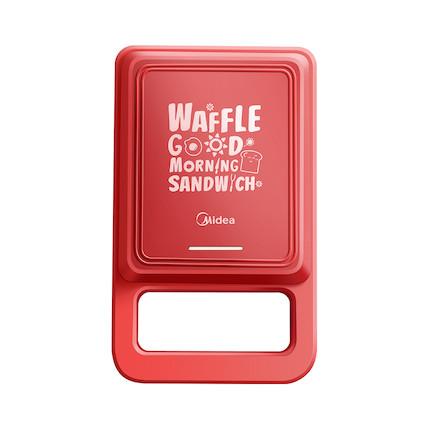 【华夫饼机】三明治早餐机 轻食机 家用多功能 加热吐司 压烤机 中国红 JK1312P101R