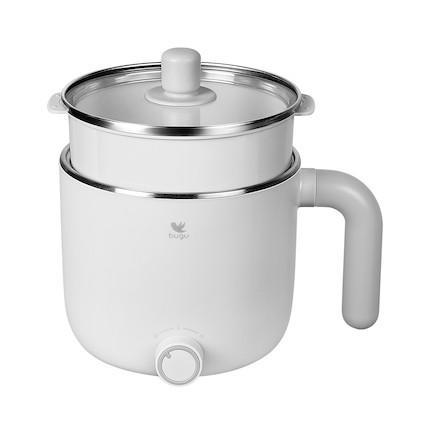 美的 布谷(BUGU) 多功能电煮锅(不锈钢/带蒸笼) BG-SP11T 白色