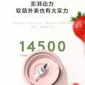 布谷(BUGU) 便携充电多功能榨汁果汁杯 BG-JS1 粉