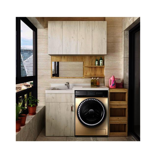 PRO会员享更多【快舒省蒸汽烘干】洗烘一体洗衣机10KG智能家电超微净泡水魔方 TD100RFTEC