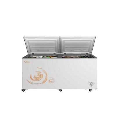 美的 521L 大容量冷藏冷冻转换柜节能顶开门家用商用冷柜 BD/BC-521DKM(E)