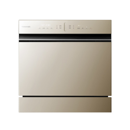 东芝 智能家电 T5洗碗机8套 全控智能洗 循环热烘 9种慧洗程序 洗烘一体 DWT5-0821