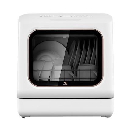 布谷 台式洗碗机 免安装 比手洗省水 19分钟超快洗 6套餐具 BG-DC01N