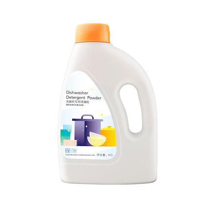 碗伴 1KG 洗碗机专用洗碗粉 生物酶分解污渍 看得见的洁净