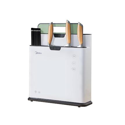 【送1块食品级材质砧板】【新品】刀筷砧板除菌机 三重紫外除菌 热风烘干 XS-K01-A-白色