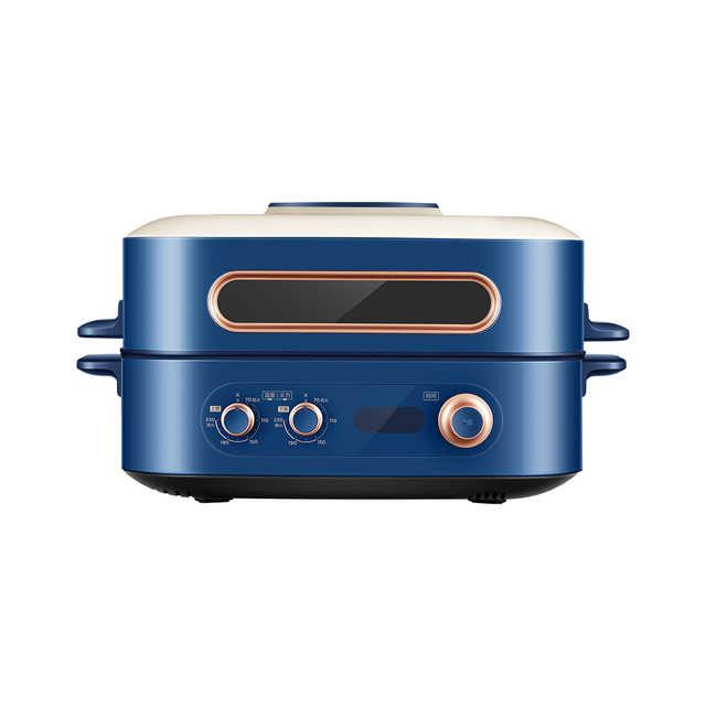 华凌 仙贝多功能料理炉 烤箱火锅 双锅多用 一机多能 发热均匀 双锅独立控火 PT06Q1