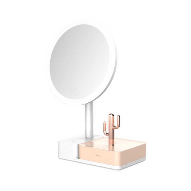 美悠T05化妆镜灯 180mm大镜面 可拆卸式收纳盒 典雅白 MTD5-M/K-22