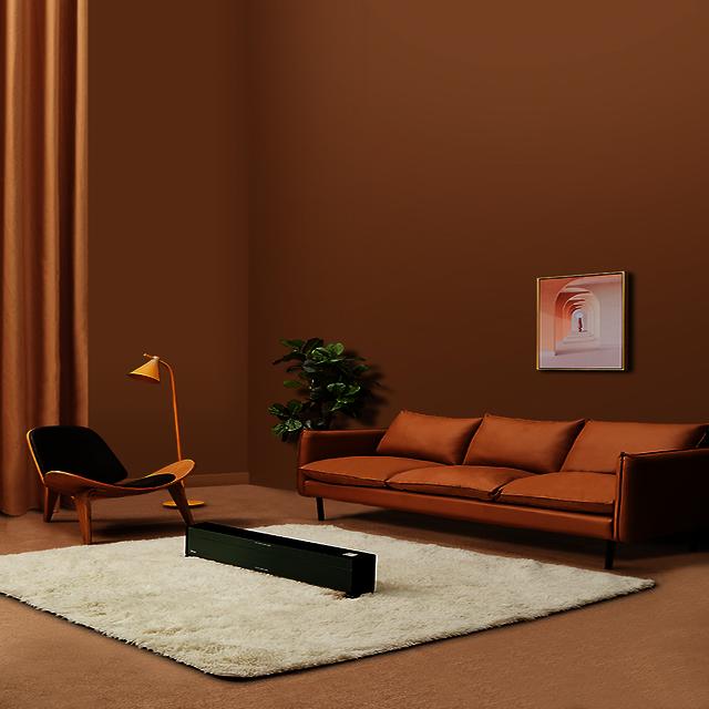 地暖器 高效取暖 居浴两用 热能空气墙 踢脚线取暖器 HDX22KGN