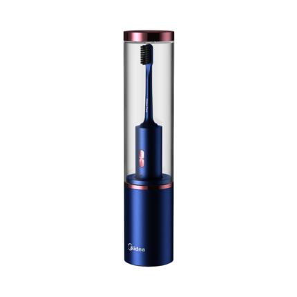 美的杀菌电动牙刷 成人情侣款套装 充电式 软毛声波震动 自动学生党 琉璃蓝 MC-AX0102